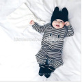 2016 Ins hot hot selling back and white autumn baby romper long sleeve unisex stripped baby romper